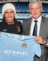 Tevez and Mark Hughes