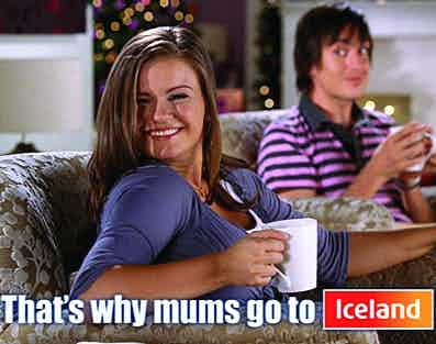 Kerry Katona in Iceland advert