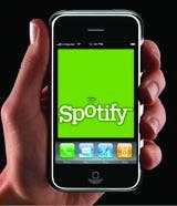 iPhone spotify app