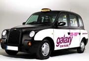 Galaxy advert on taxi