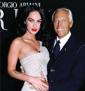 Giorgio Armani with Megan Fox