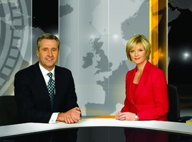 Mark Austin and Julie Etchingham