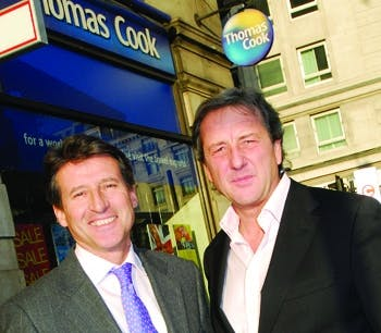 Sebastian Coe and Manny Fontenla Novoa Group CEO for Thomas Cook Group