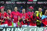 Manchester United win the Carling Cup