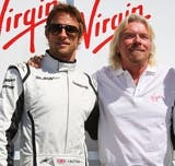 Richard Branson with Jenson Button