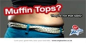 Work it: Virgin Active has moved away from guiltinducing images like the 'muffin top' below