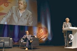 David Jones with Bob Geldof at Cannes 2009