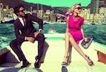 Luxury brand Salvatore Ferragamo with Claudia Schiffer