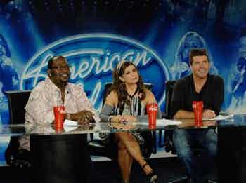 American Idol judges with Coke