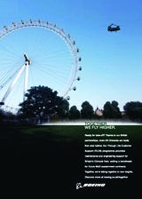 Boeing London Eye Together We Fly Higher campaign