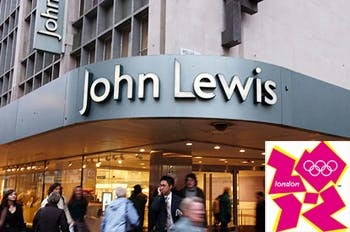 John Lewis and 2012 Olympic logo
