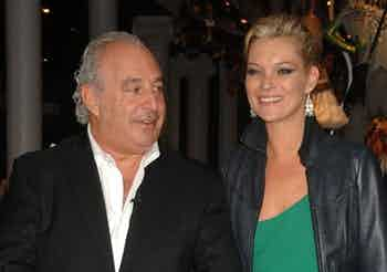 Philip Green and Kate Moss