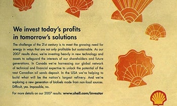 2008 Shell ad was banned by the ASA for Greenwashing