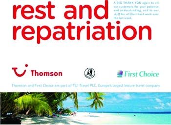 Rest and Repatriation ad