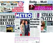 The Daily Mail, The Metro and the Mail on Sunday