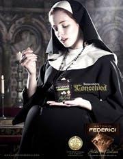 Antonio Federici icecream ad  featuring a pregnant nun
