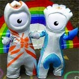 London 2012 Olympic mascots Wenlock and Mandeville