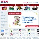 Tesco has the highest percent of online shopping