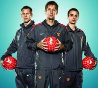 Giggs, Van Der Sar and Berbatov
