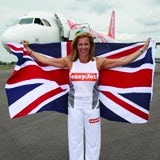 Champion athlete Sally Gunnell in easyJet ad