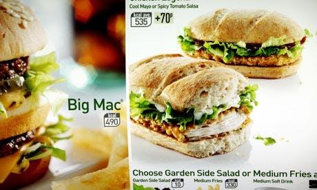 McDonalds calorie counts