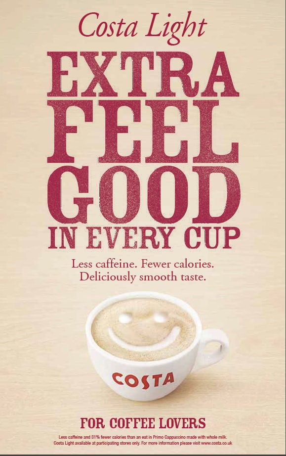 Costa Coffee Adapts Ad Strategy To Boost Emotional Appeal Of Costa Light Variant Marketing Week