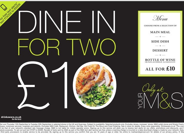 M&S Dine in for two