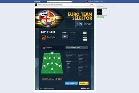 Betfair Facebook App