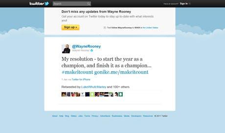 Rooney Tweet