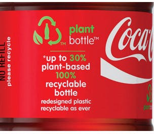 Coke plant bottle