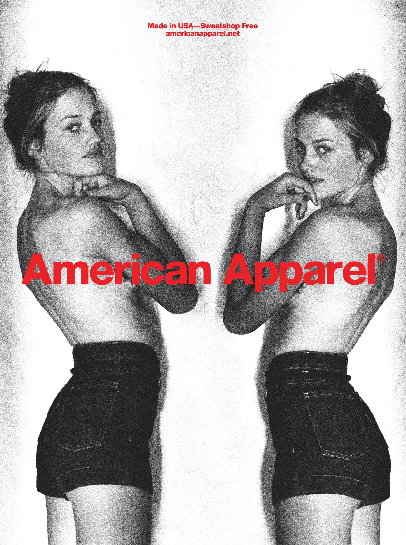 American Apparel uses 'non-models'