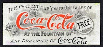 Coca Cola first coupon