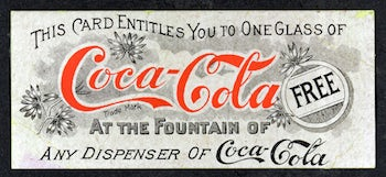Coca Cola first coupon