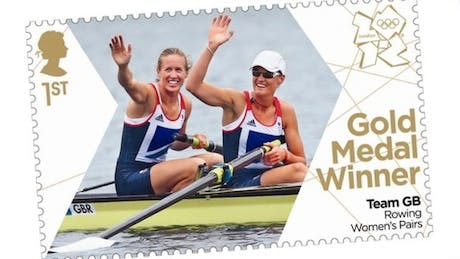 Royal Mail Gold medal commemorative stamp