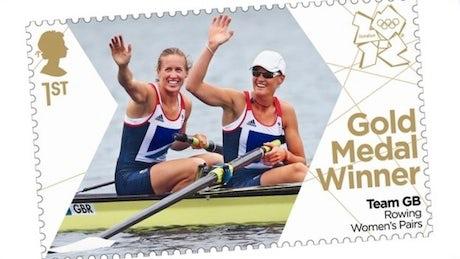 Royal Mail Gold medal commemorative stamp