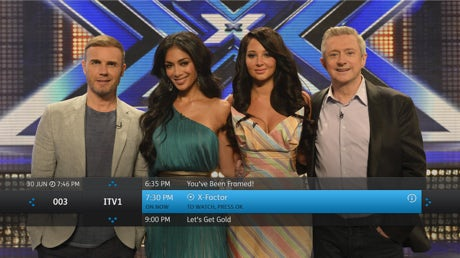 The YouView interface