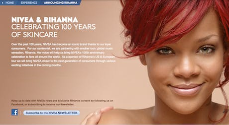 Nivea Rihanna Website