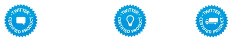 Twitter Certified Products Logos