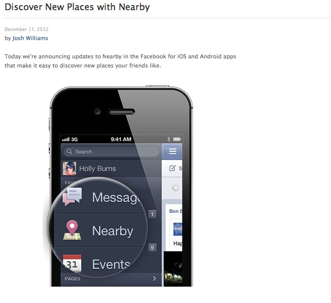 Facebook Nearby 460