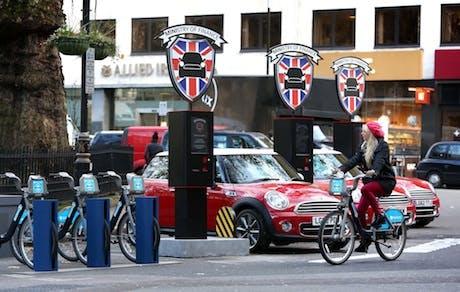 Mini offering car rental for 26p-per minute.