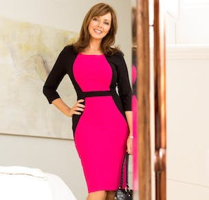 Isme signs Carol Vorderman