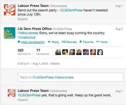 Twitter Labour Lib Dem