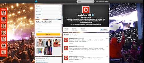 Vodafone Twitter Account