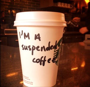 Starbucks joins suspended coffee movement