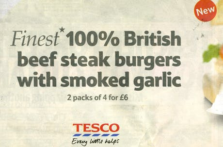 Tesco burger