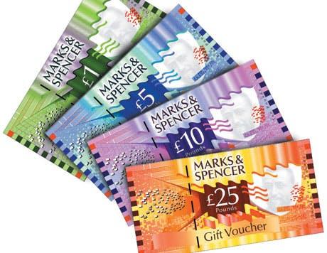 M&S vouchers