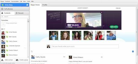 Skype Specsavers campaign