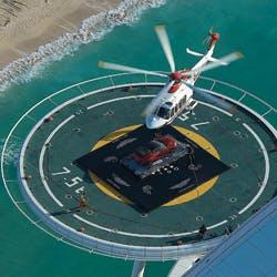 Aston Martin Dubai stunt