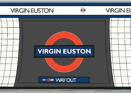 London Underground Virgin Euston mock up