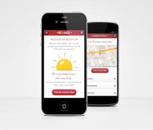 Pret a Manger mobile site